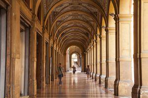 The porticoes of Via Farini, Bologna