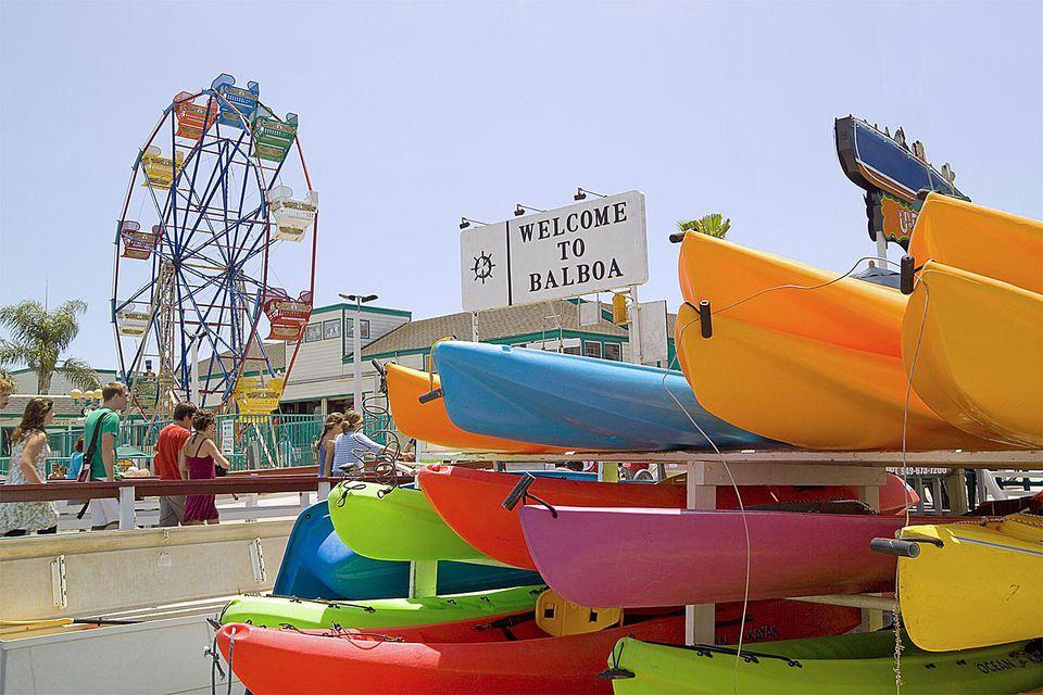 Balboa Fun Zone At Newport Beach