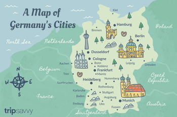 Map Of Germany Coast.Map Of German States