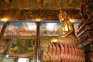 Seated Buddha at Wat Phnom, Cambodia