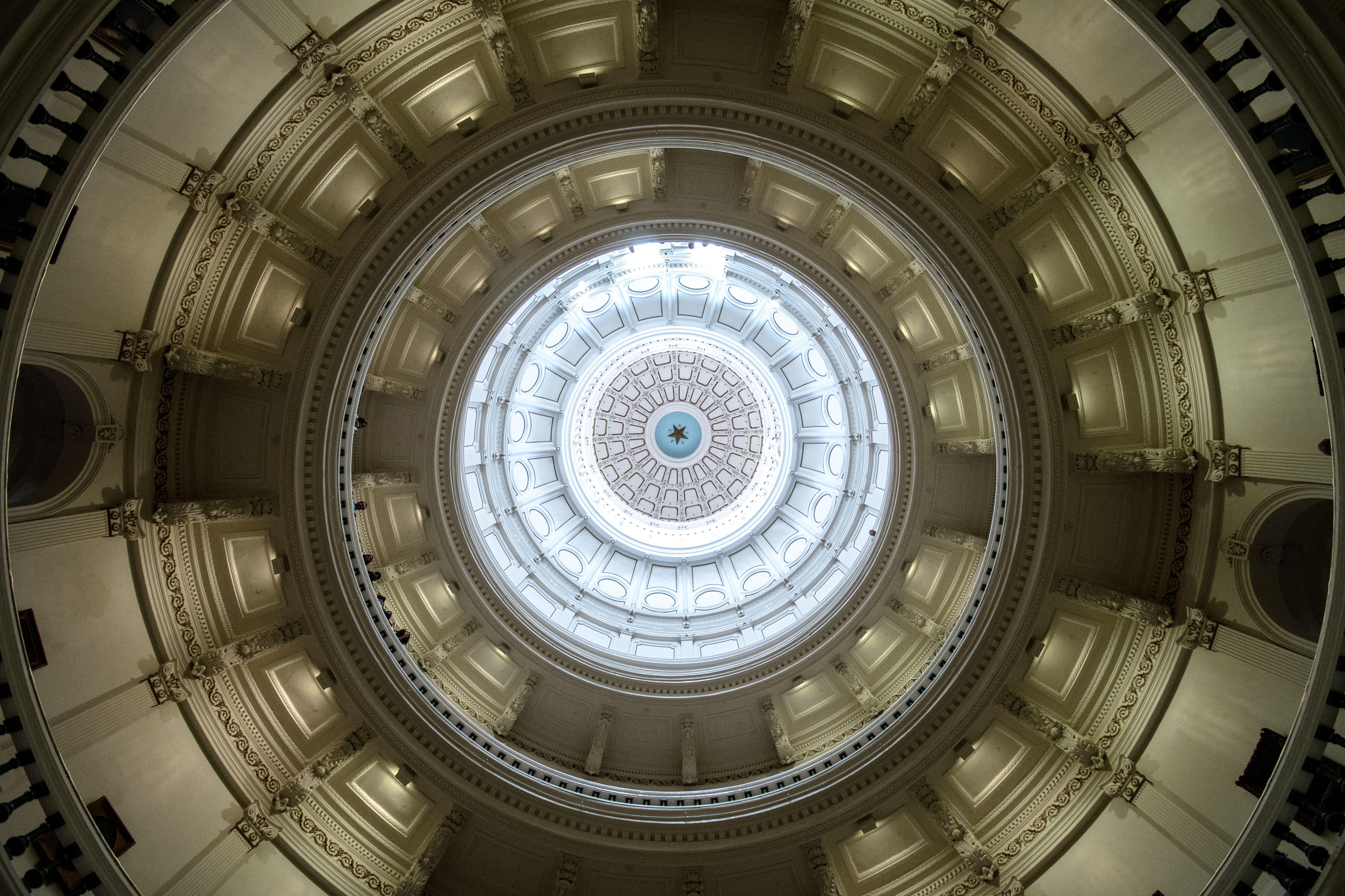 Vista del techo en el Capitolio de Texas