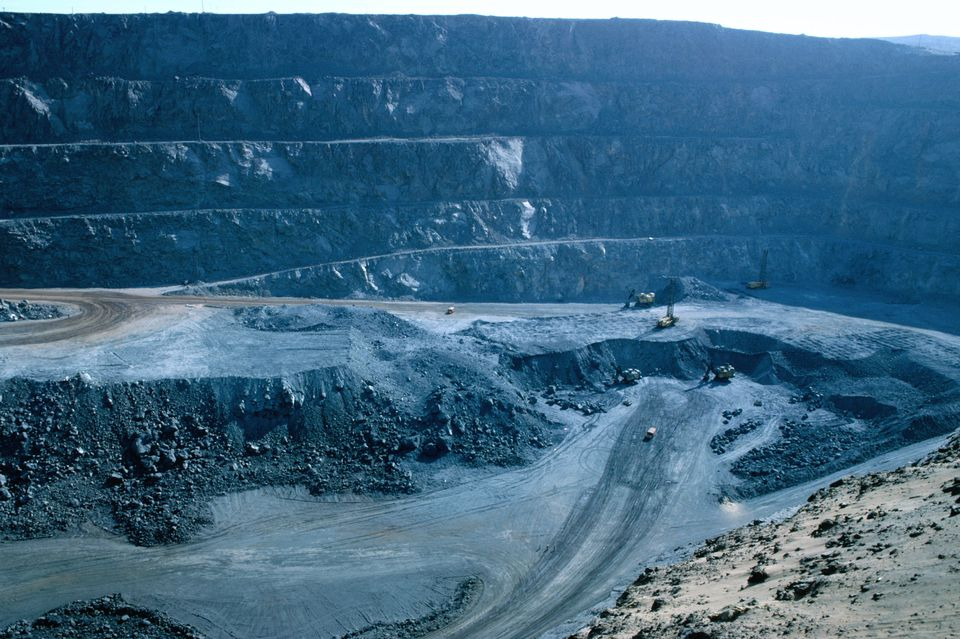 Open cut copper mining in Ilo