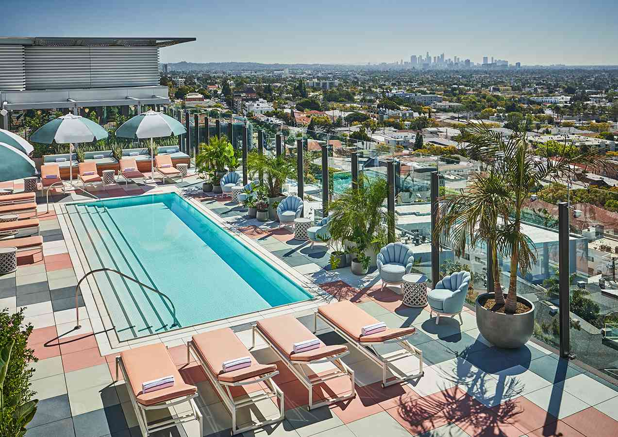 rooftop pool at Pendry West Hollywood
