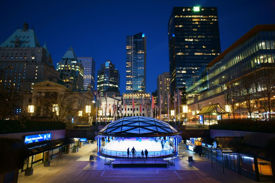 Robson Square, Vancouver BC, Ice Skate Rink
