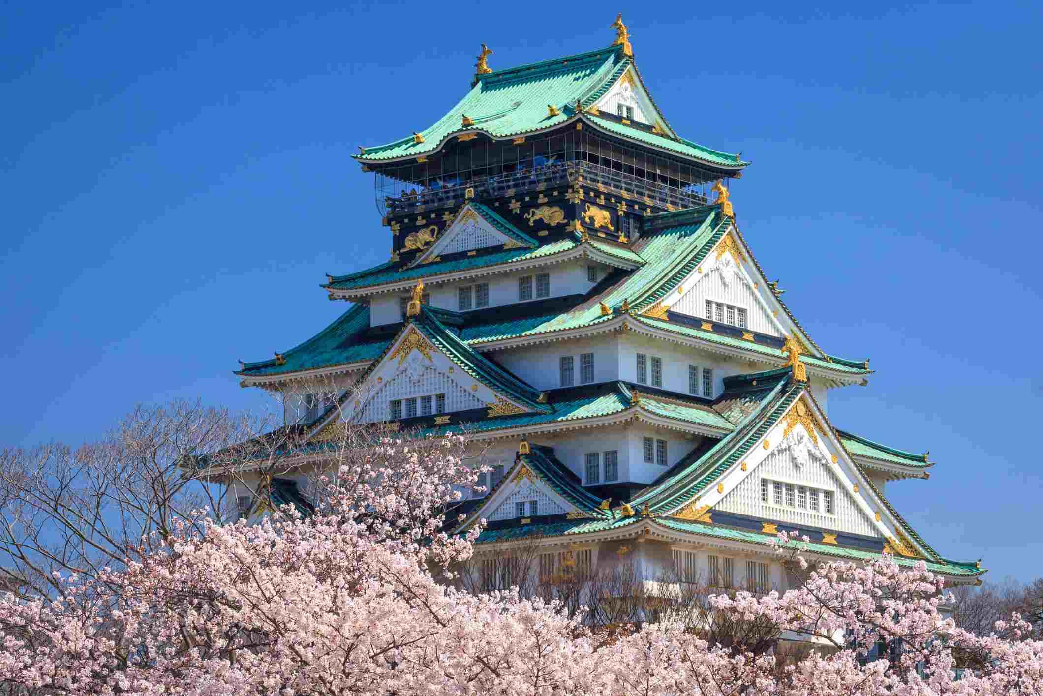 Osaka castle in Spring, Osaka, Japan