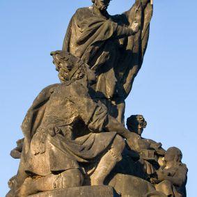 San Francisco Javier en el Puente de Carlos Praga