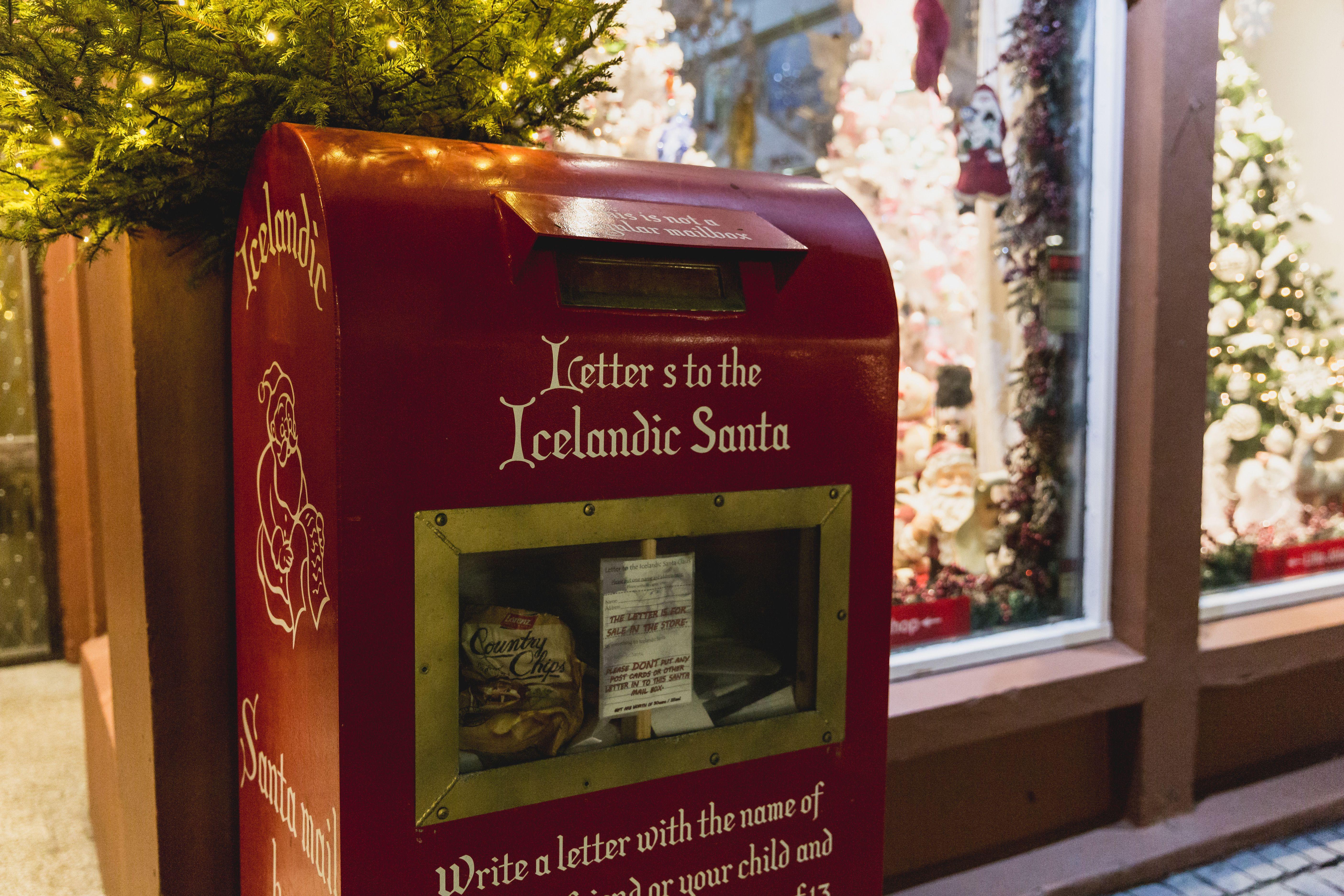Mailbox to the Icelandic Santa in Reykjavik, Iceland