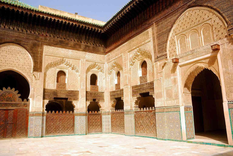 Medersa Bou Inania courtyard, Fez