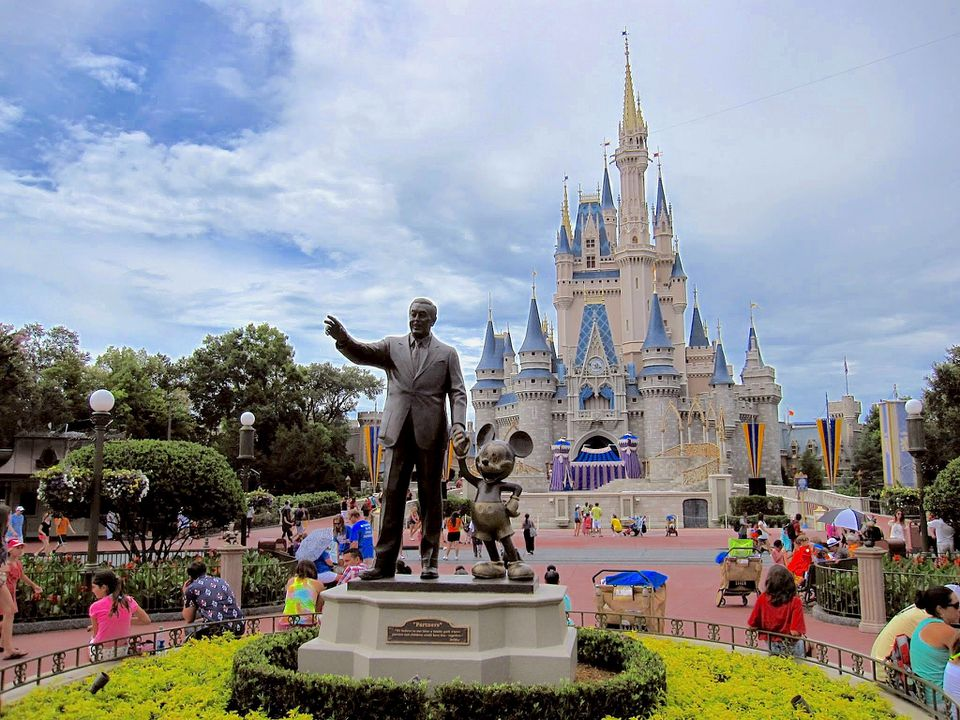 Entrance of Disney World in Orlando, Florida.