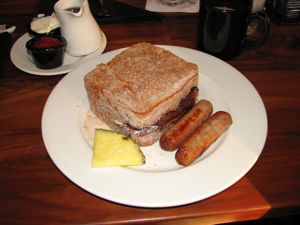 Tostada Tonga en Kona Cafe