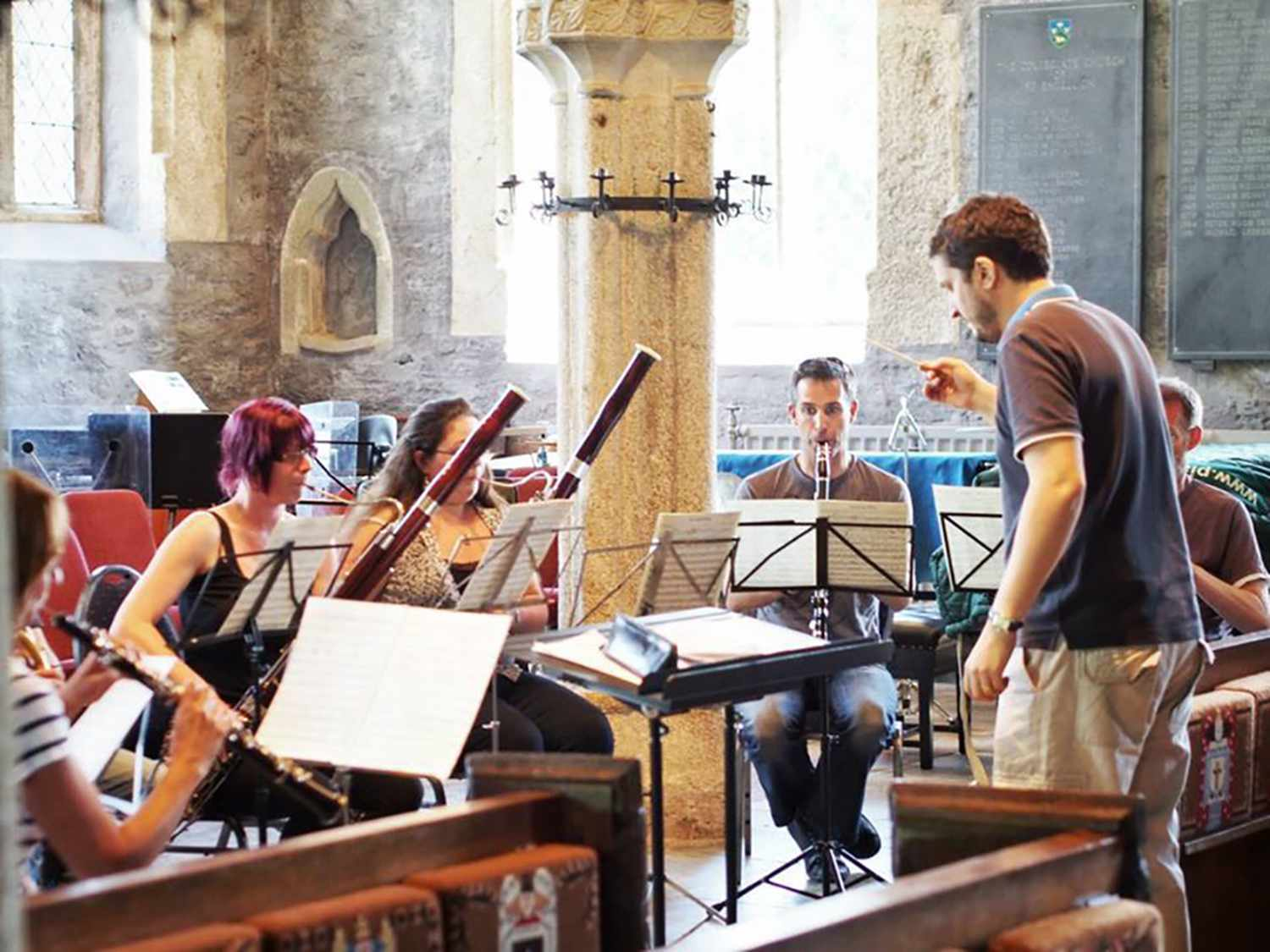 Rehearsals by members of St Endellion's orchestras