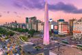 Argentina Buenos Aires dawn at center with rush hour