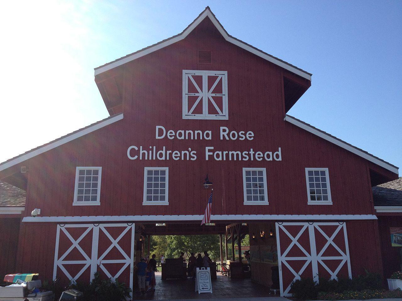 Entrance to Deanna Rose Children's Farmstead in Overland Park, Kansas
