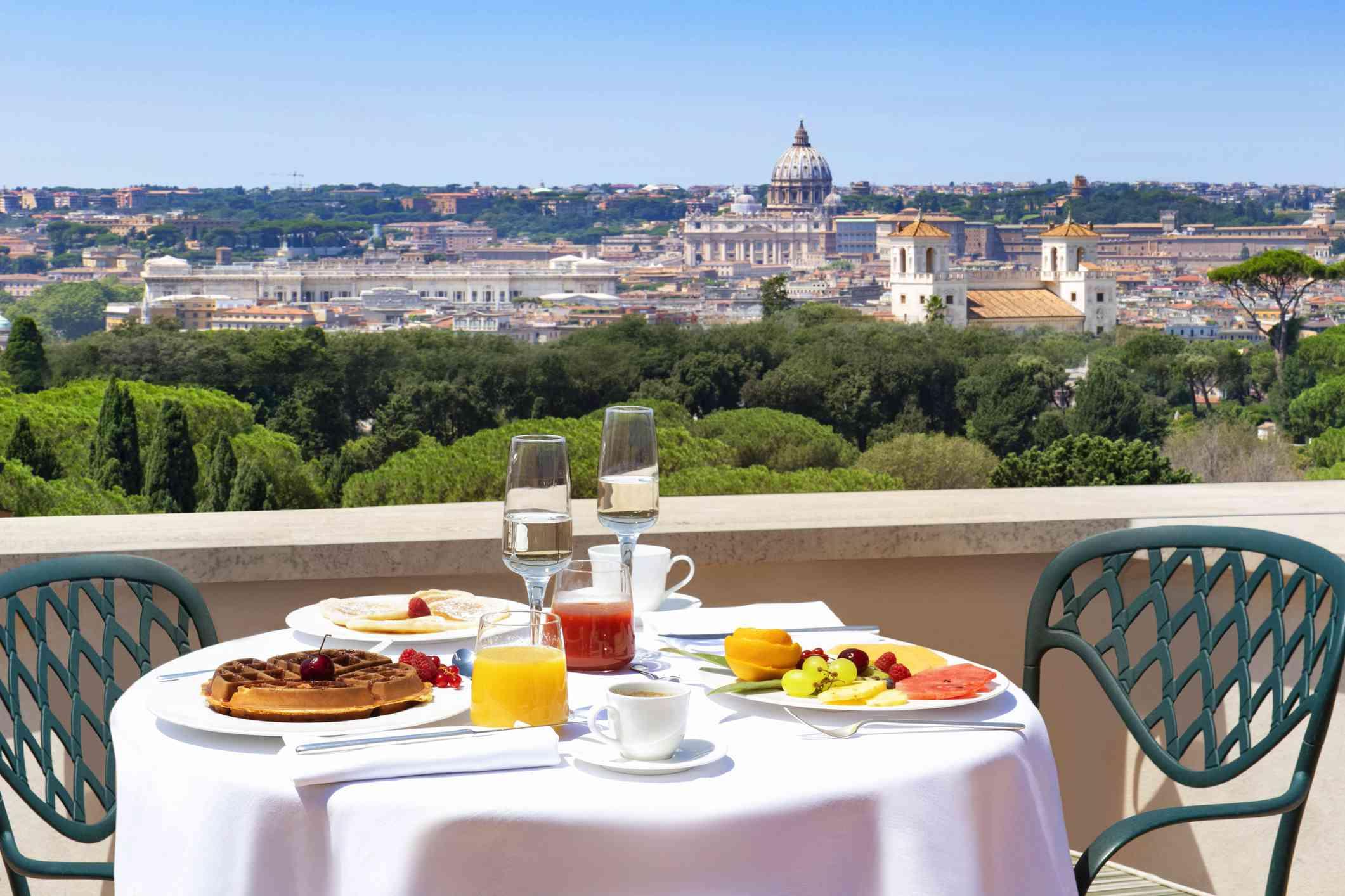 Breakfast in Rome