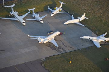 Aerial view of Luton Airport