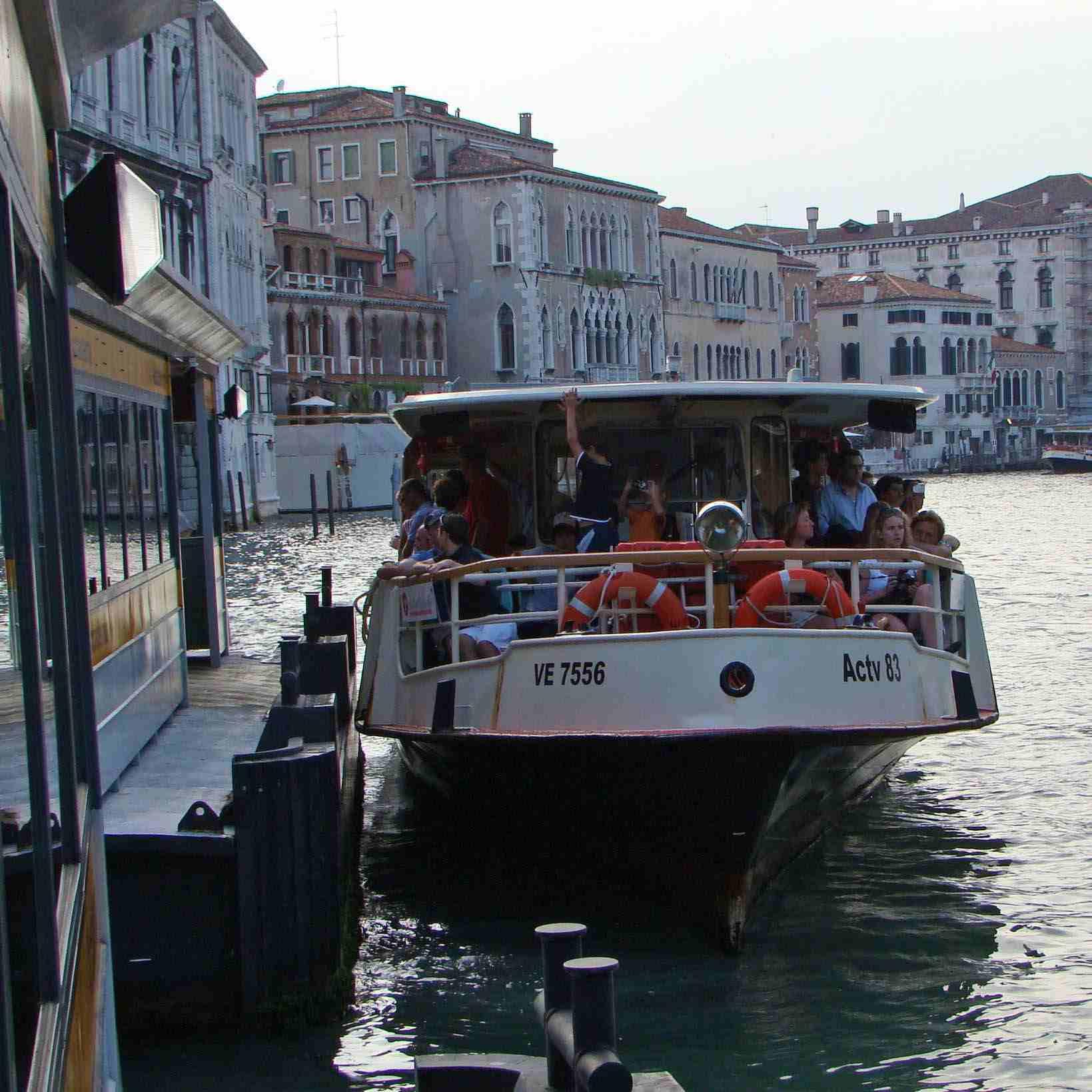 Vaporetto rides are a preferred method of transportation in Venice, Italy.