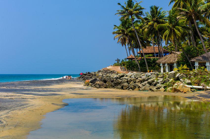 Beach house at Kovalam, Kerala.