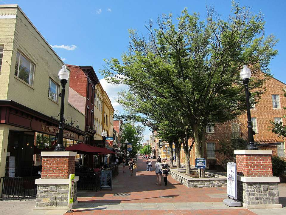 El Loudoun Street Mall en Winchester, Virginia