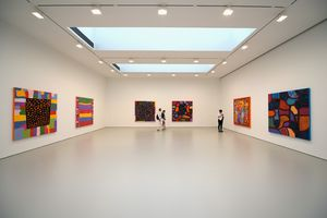 A general view of atmosphere during the Yayoi Kusama: Give Me Love press preview at David Zwirner Art Gallery