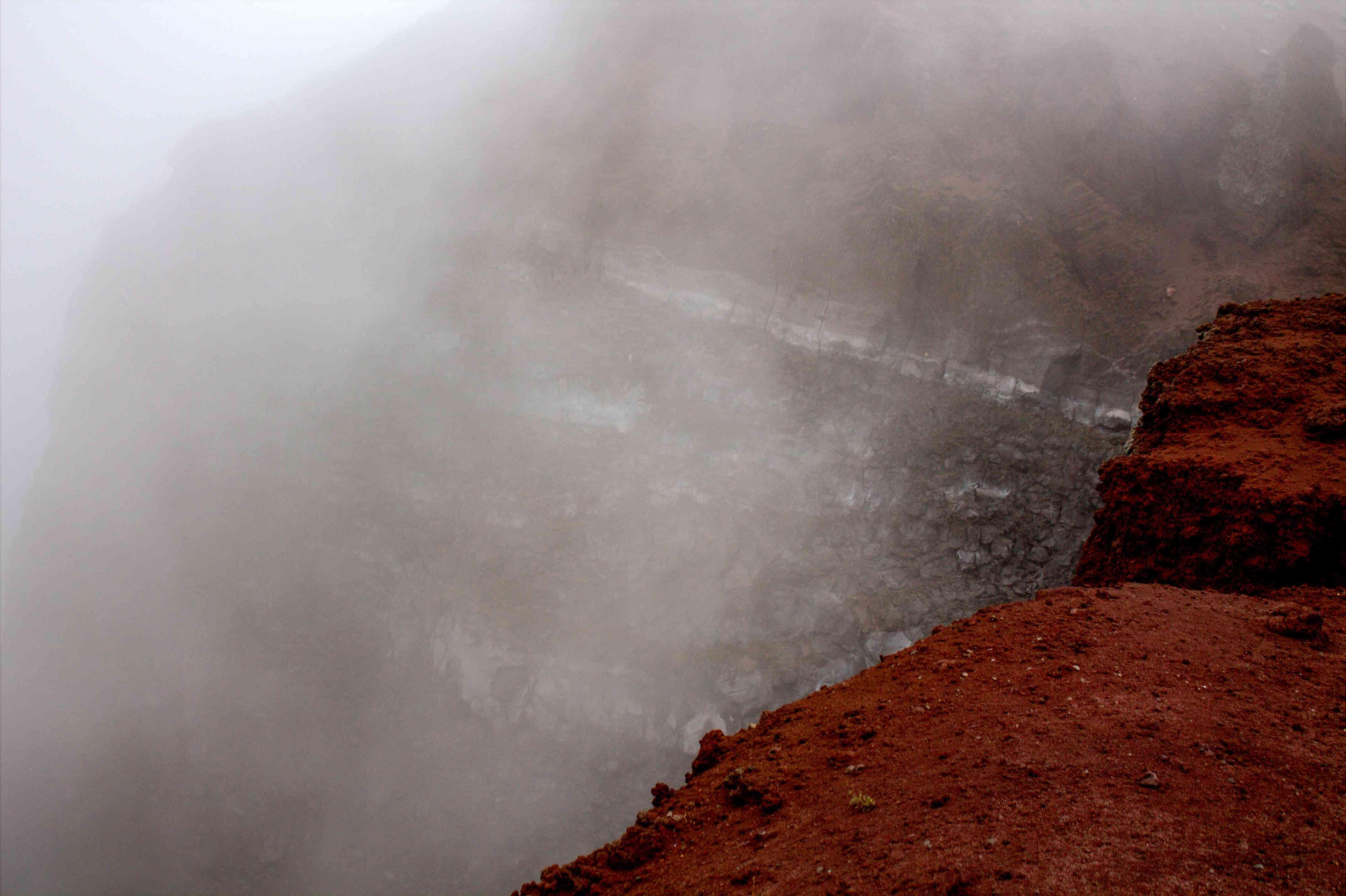 The crater on Mt Vesuvius
