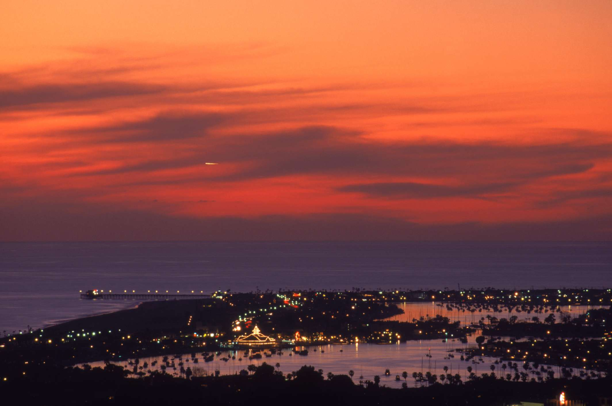 Newport Beach Aerial Sunset