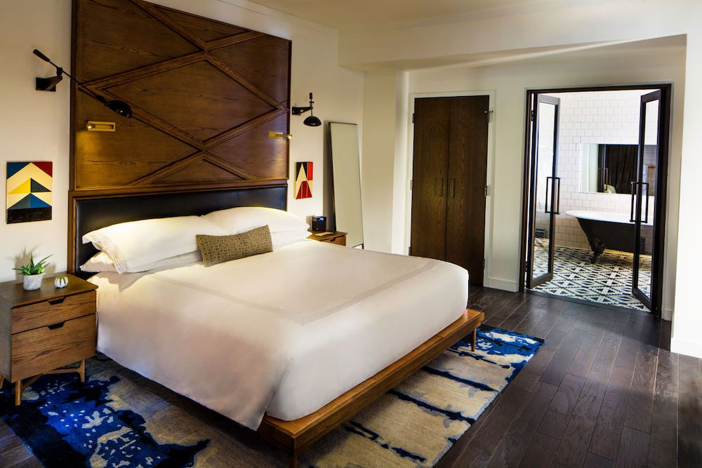 Thompson Hotel room with queen bed