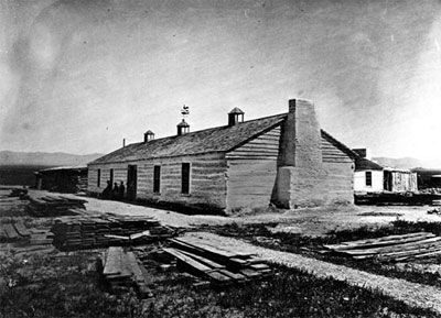 Historic photo of Fort Ruby in White Pine County, Nevada, NV