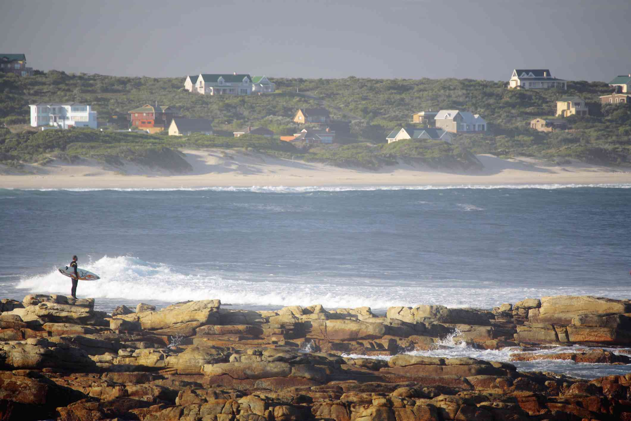 Early morning surfer, Cape St Francis, Eastern Cape, South Africa