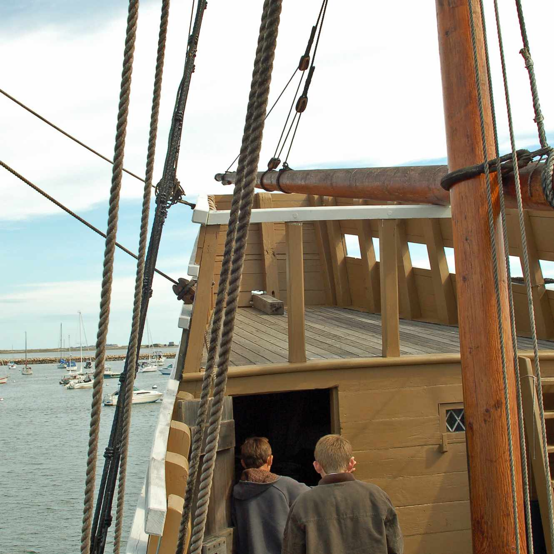 Mayflower II Photo - Exploring the Ship