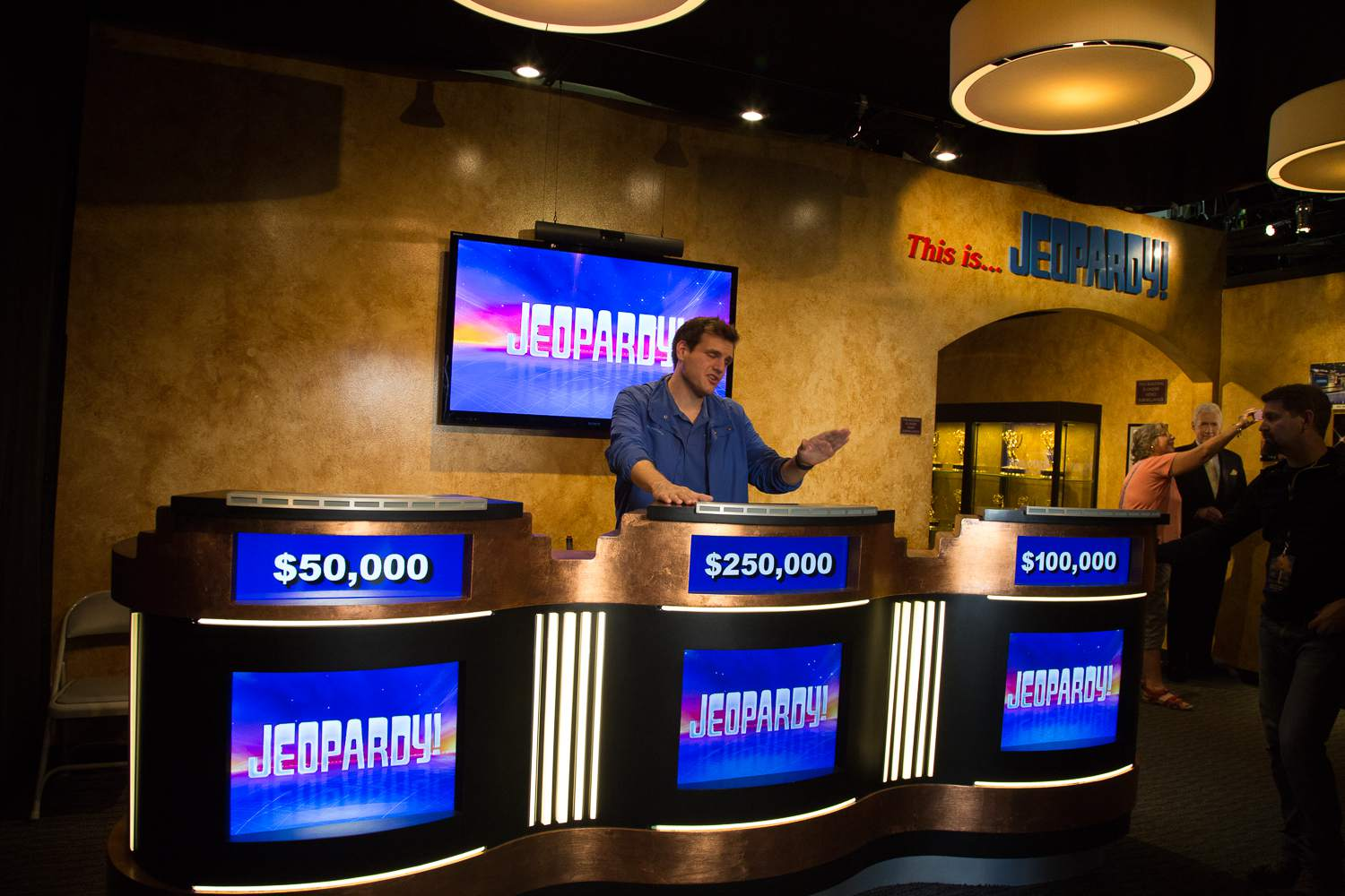 The Jeopardy set at Sony Pictures Studios in Culver City