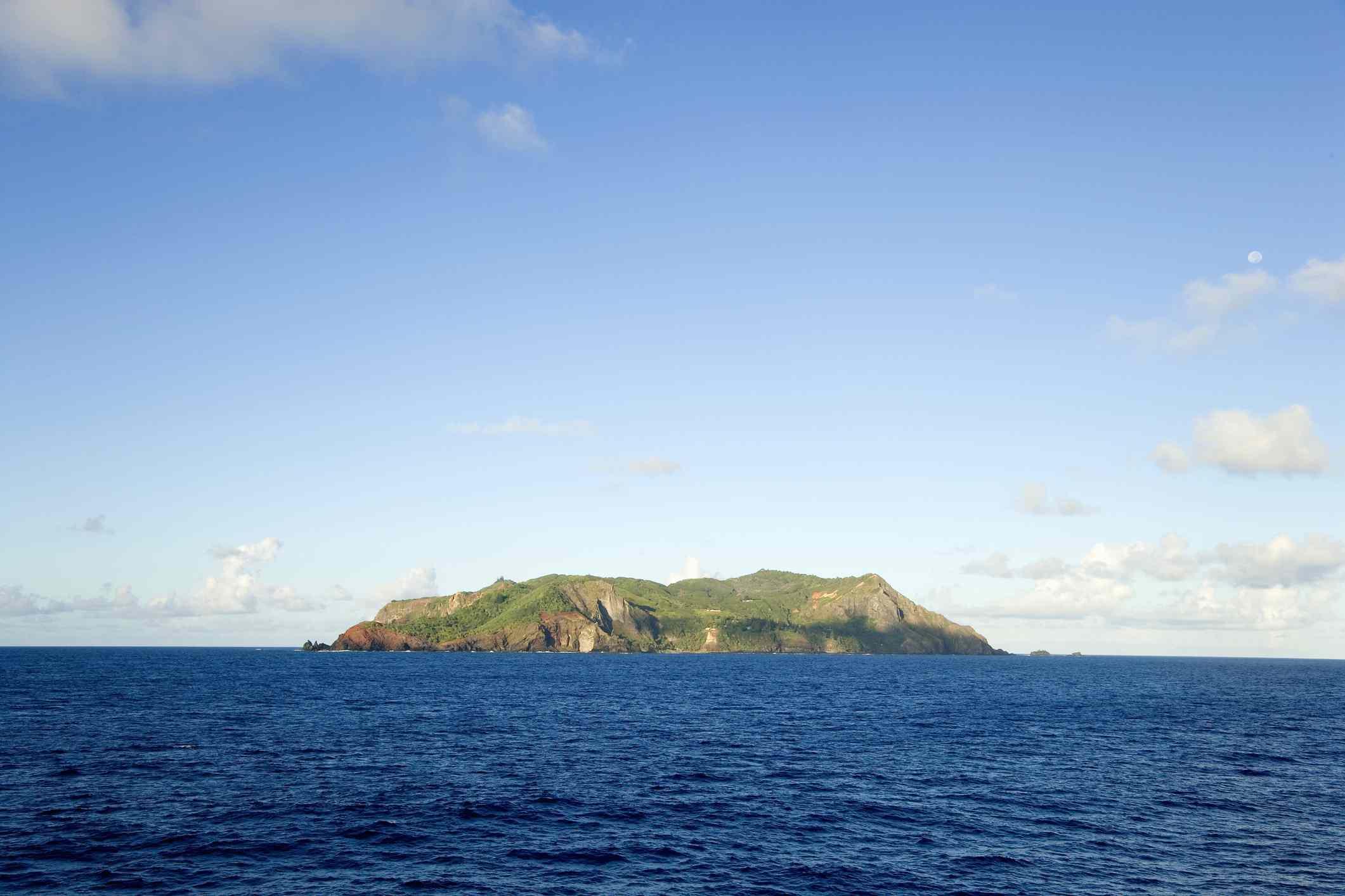 View of Pitcairn Island