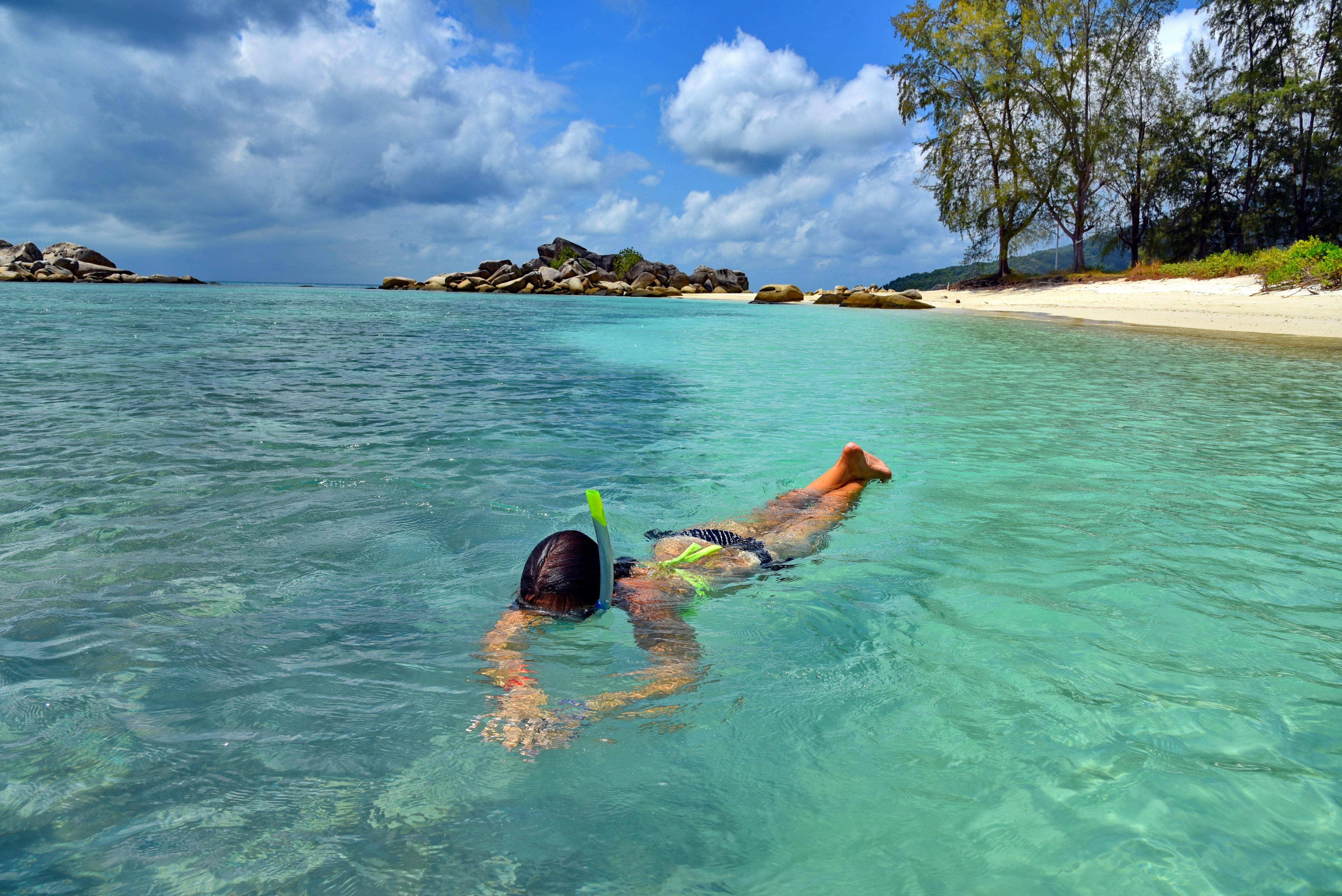 Girl snorkeling in Langkawi, Malaysia