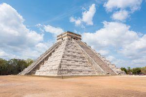 The step pyramid at Chichen Itza