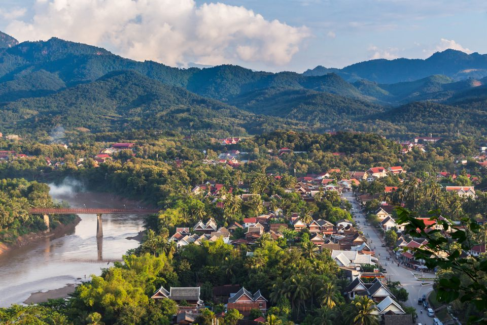 High Angle View Of Luang Prabang