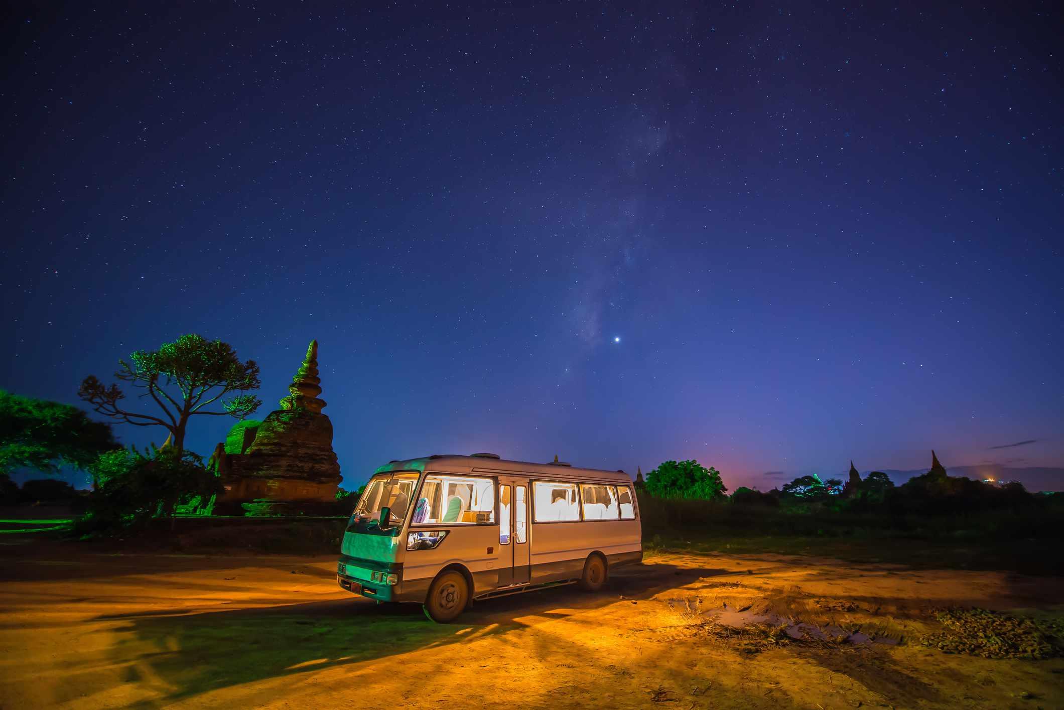 Tour vehicle in Bagan, Myanmar
