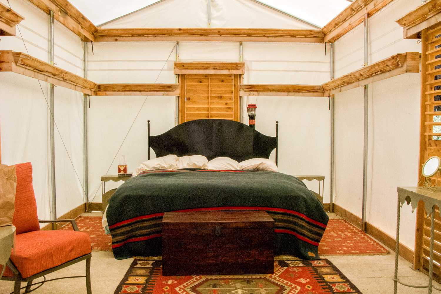 Interior of a Tent Cabin at Sequoia High Sierra Camp