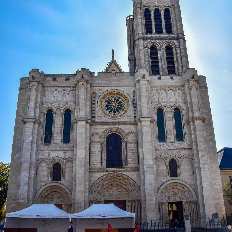 Basilica of Saint-Denis in Paris, France