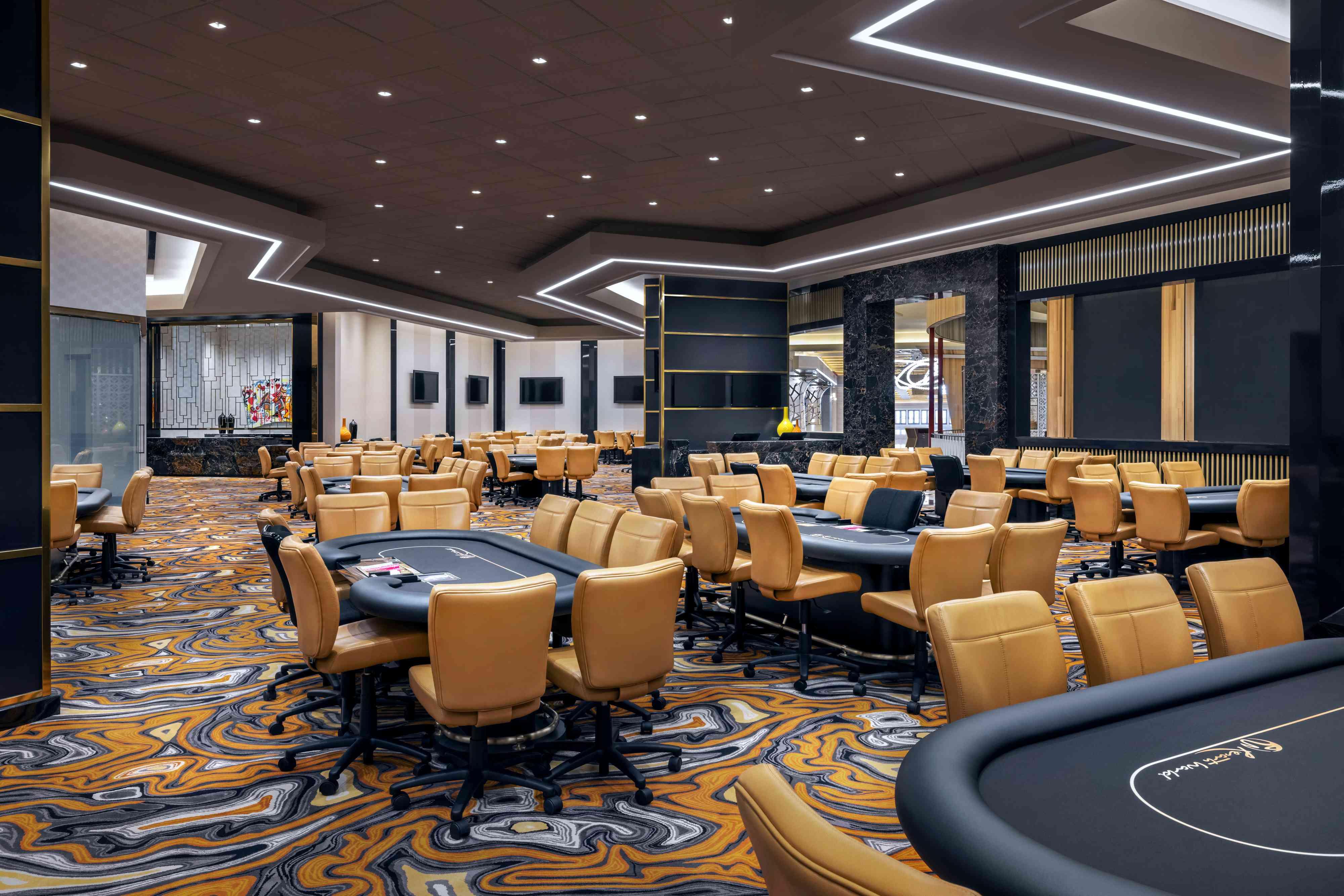 poker room at Resorts World Las Vegas
