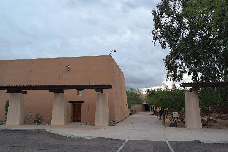 Entrada al Museo Pueblo Grande en Phoenix, Arizona