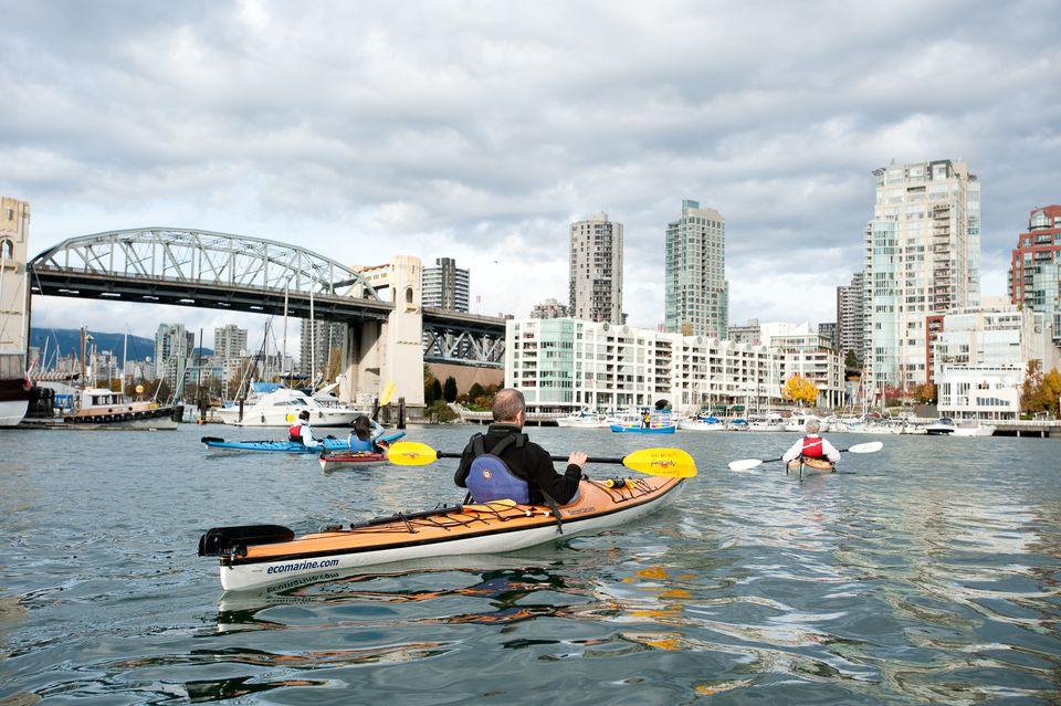 Kayaking Vancouver Granville Island