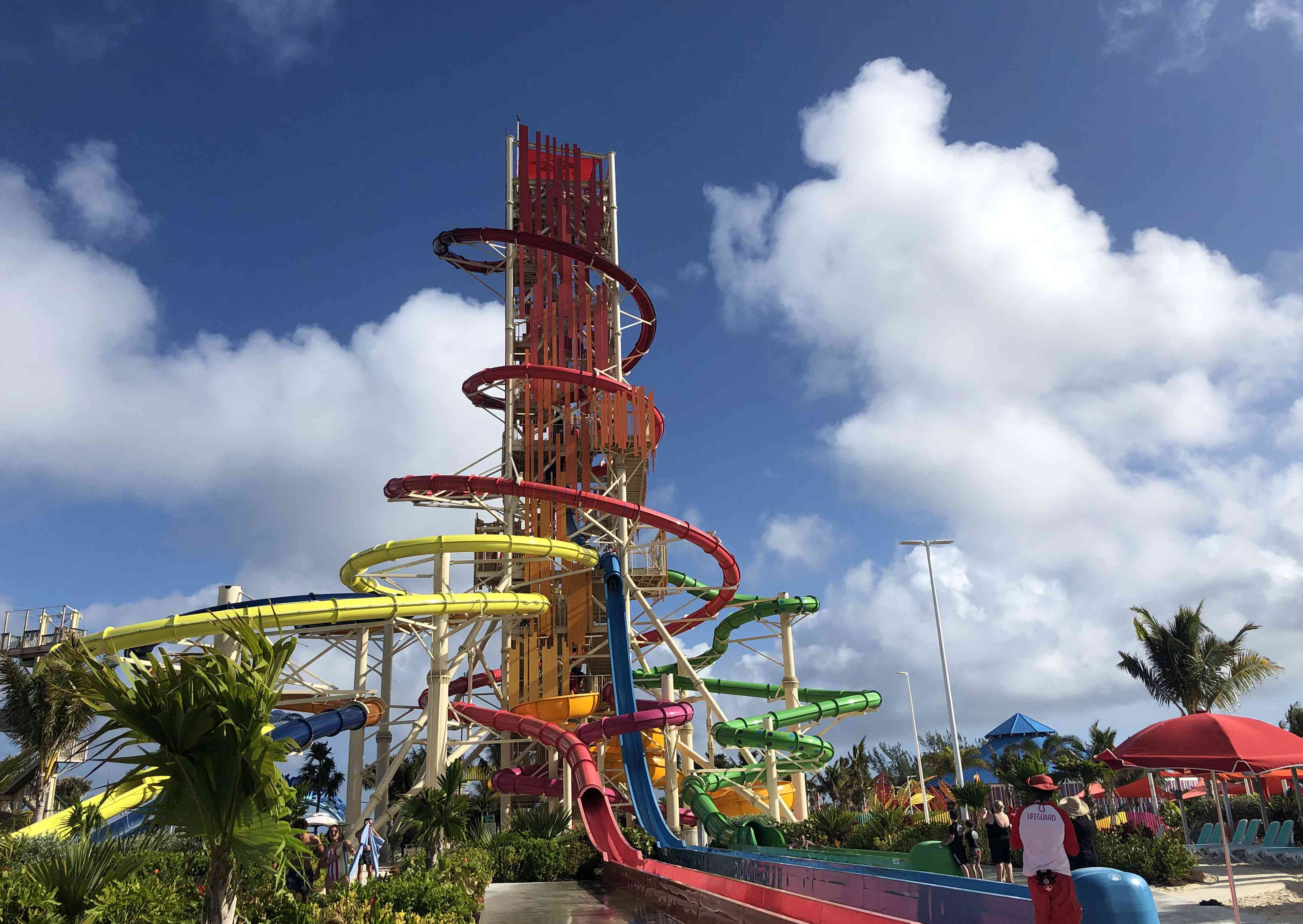 Daredevil's tower water slide at Perfect Day at CocoCay