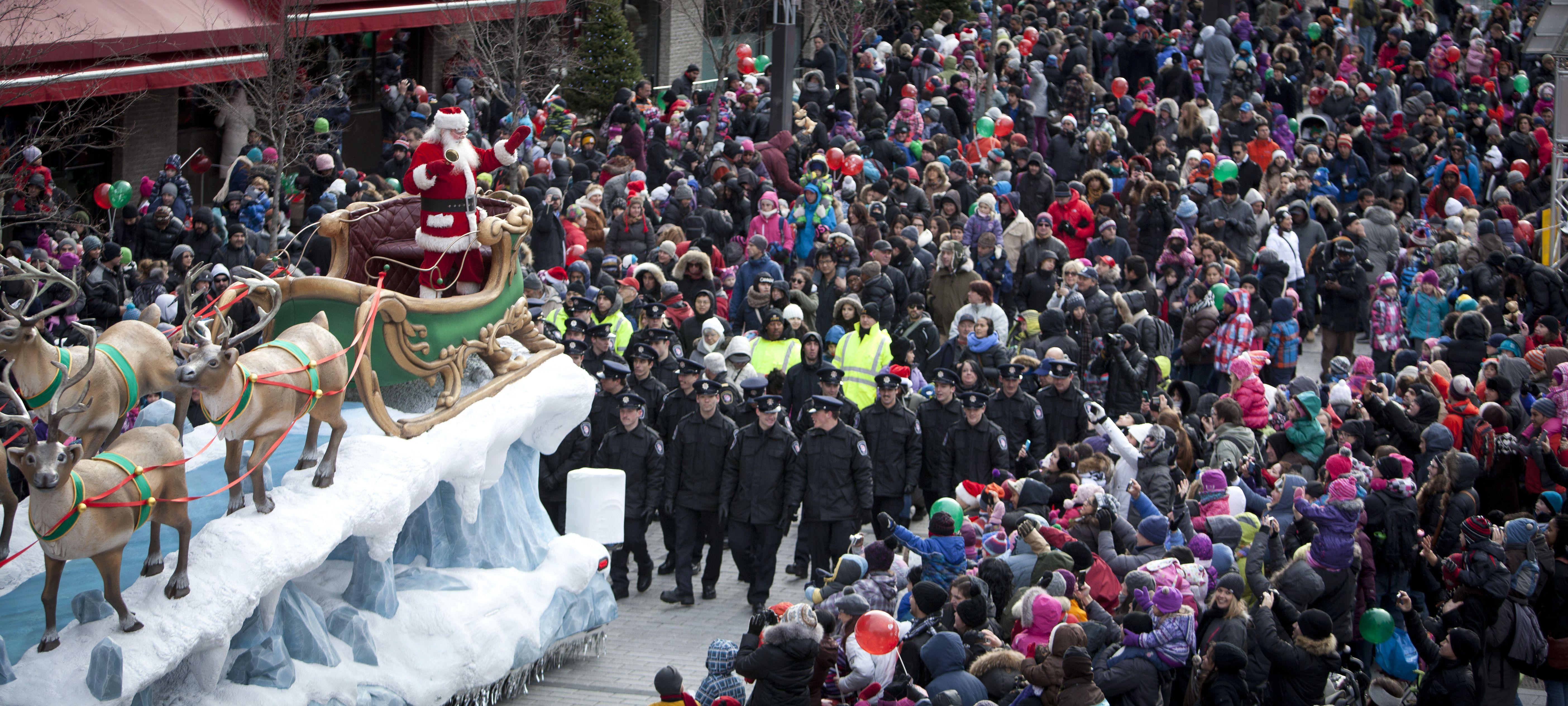 Desfile de Papá Noel en Montreal