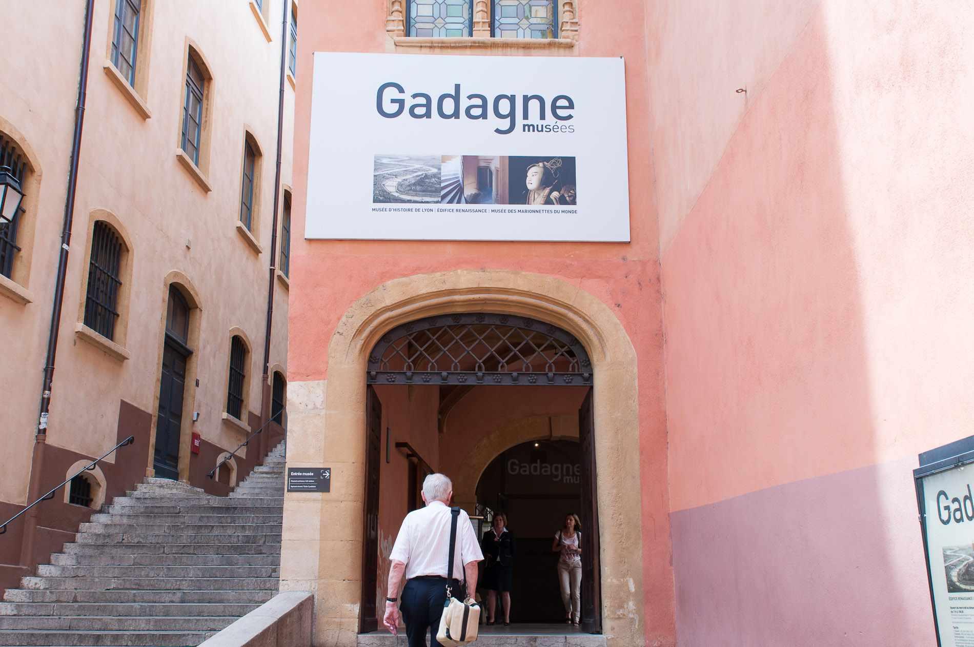Entrance to the Musées Gadagne, Vieux Lyon, France