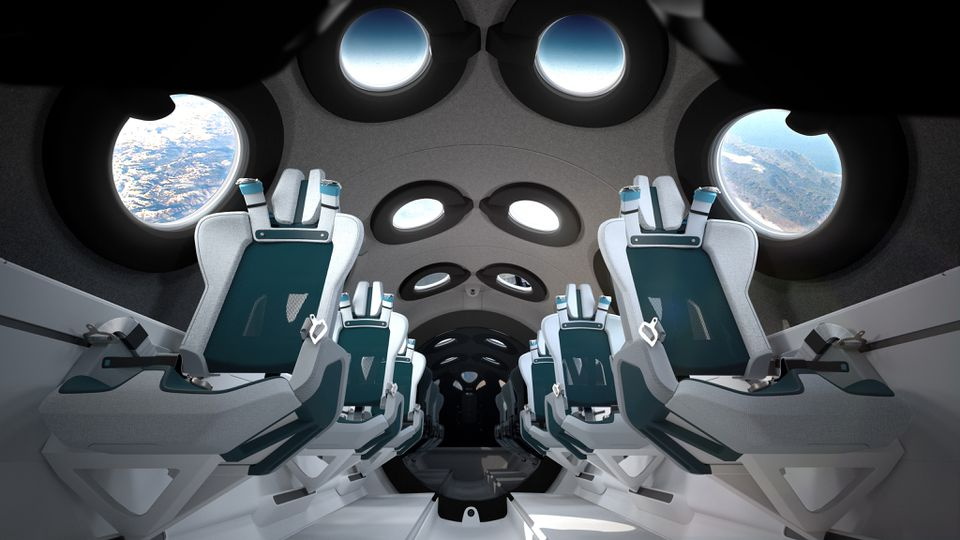Virgin Galactic space cabin interior