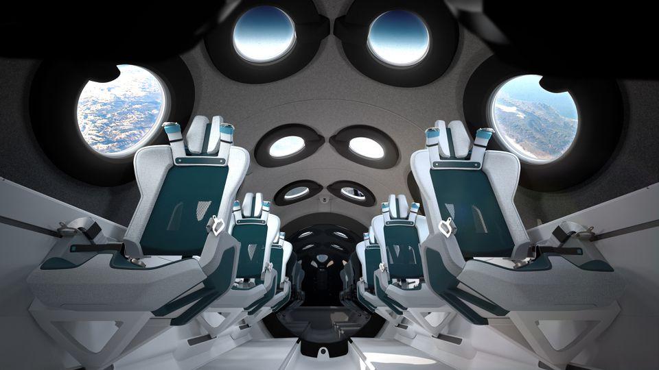 Virgin Galactic space cabin interior