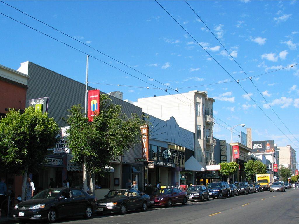 Shops along Chestnut Street