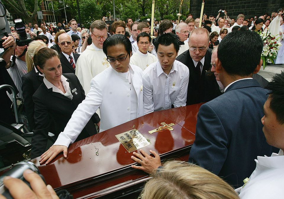 Funeral for convicted heroin trafficker Nguyen Tuong Van