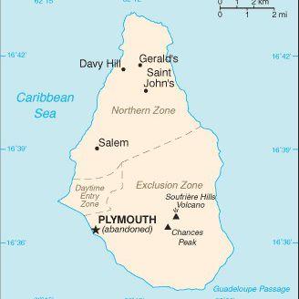 Caribbean Cruise Map of Montserrat