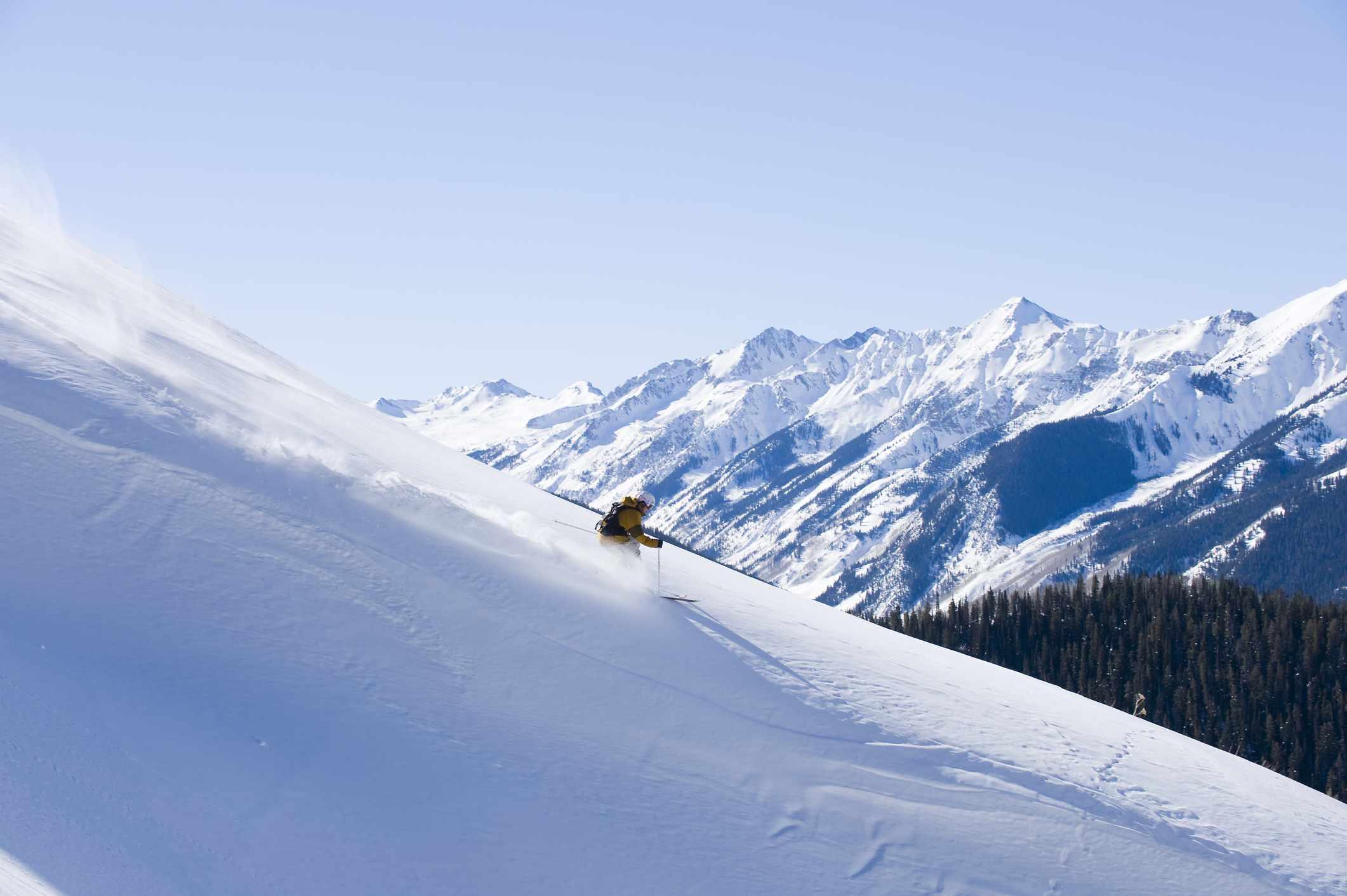 All alone skiing in Colorado