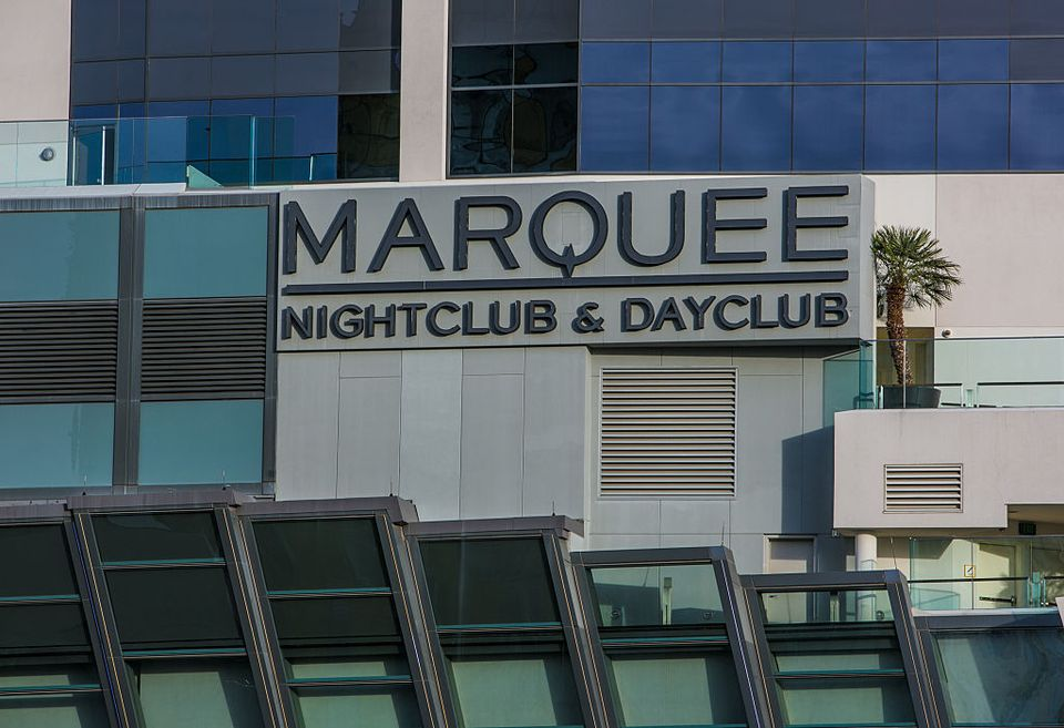 The Marquee nightclub, located at the Cosmopolitan Hotel & Casino, is viewed on December 4, 2015 in Las Vegas, Nevada.